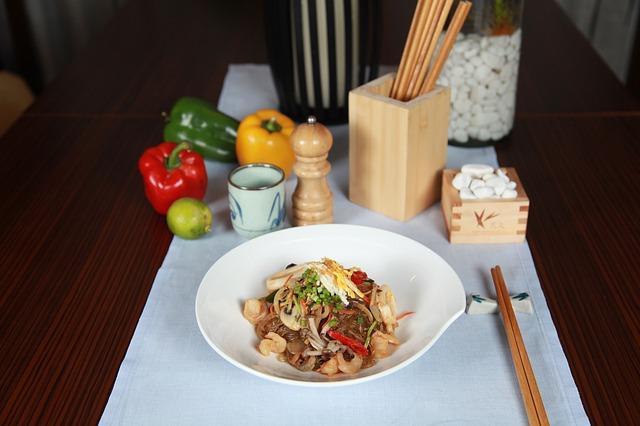 Zutaten der asiatischen Küche