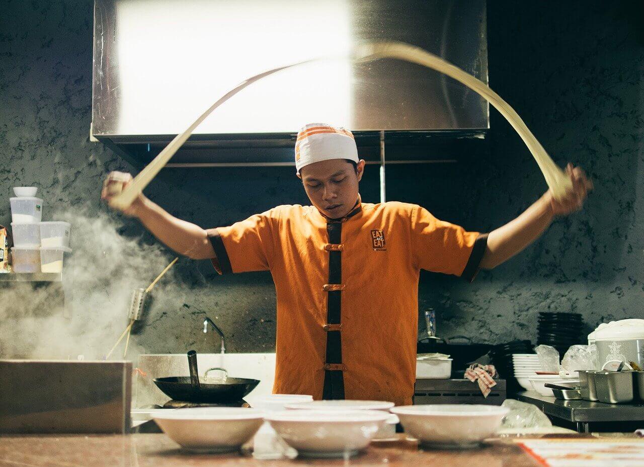 Gutes Essen im asiatischen Restaurant