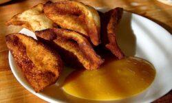 Mango-Dip passt sehr gut als Marinade zu Gemüse- und Geflügelspieße